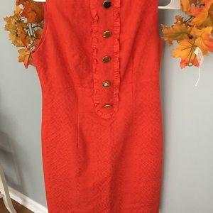 Orange fall dress by Taylor
